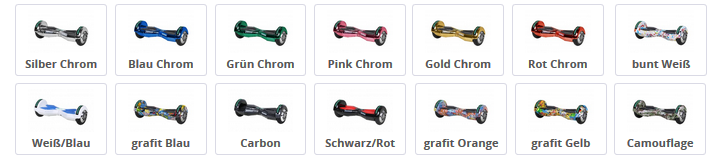 W2 in verschiedenen Farbdesigns