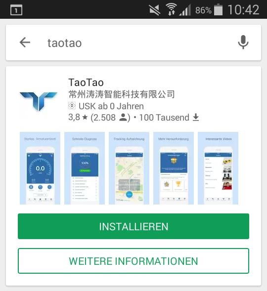 Tao Tao App Google Playstore