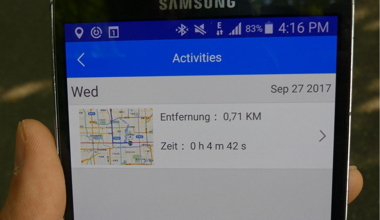 Tracking Funktion TaoTao App