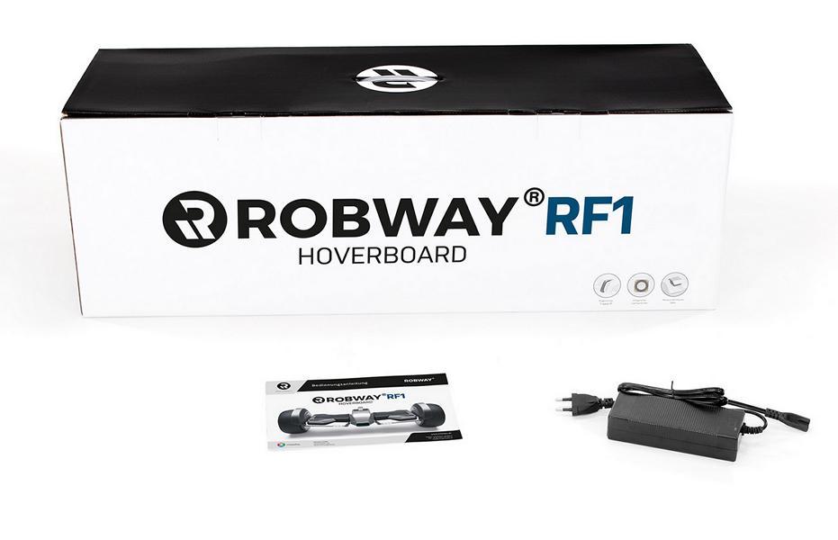 Robway RF1 Verpackung, Ladekabel und Anleitung