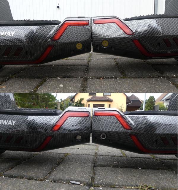 Hoverboard Robway X2 Vorder- und Rückseite