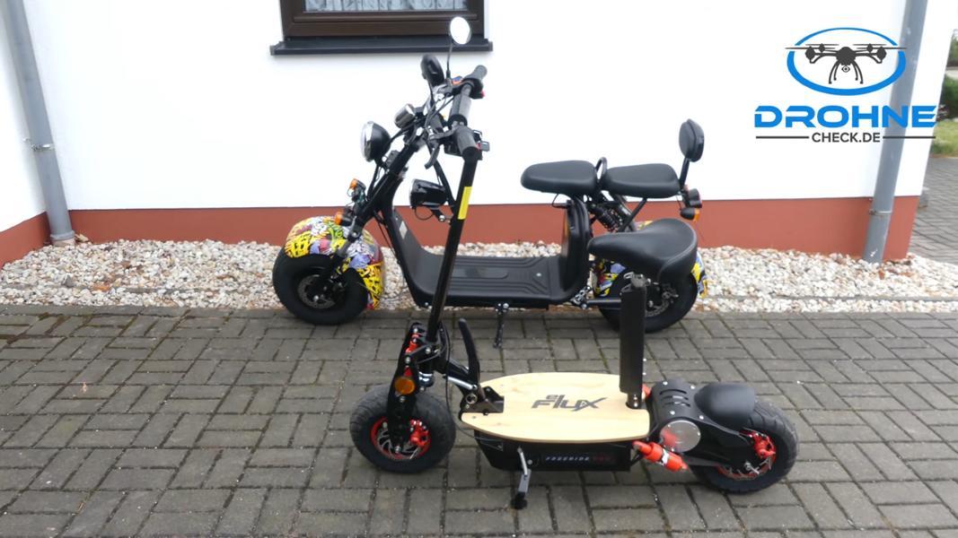 Vergleich Elektrroller Harley und eFlux Street 40