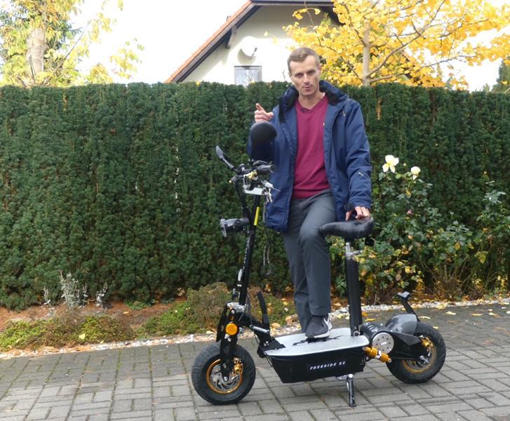 eFlux E Roller Test ohne 45 KM Höchstgeschwindigkeit