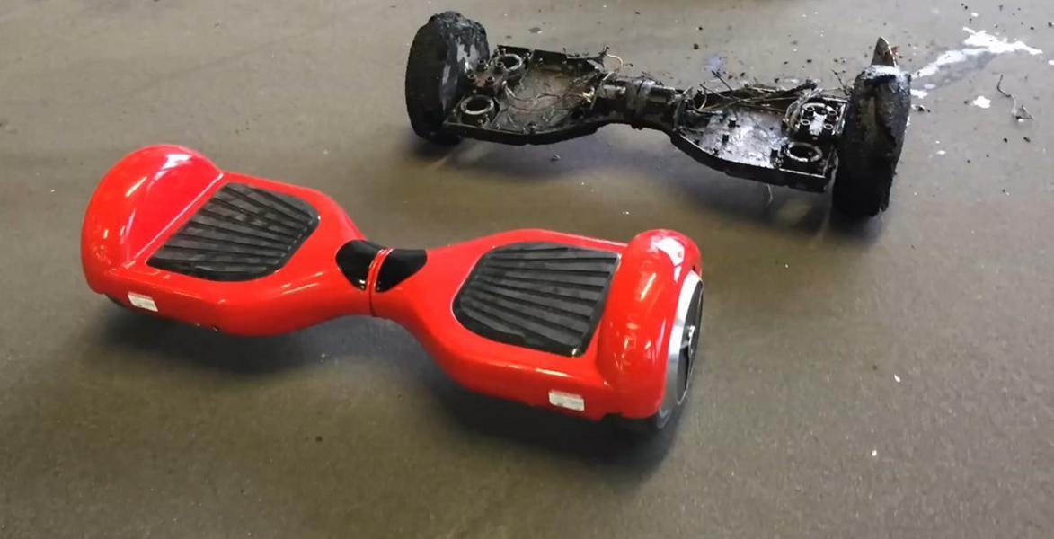 Ausgebranntes Hoverboard